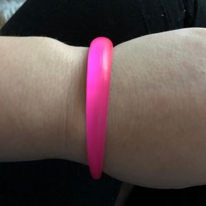 Alexis Bittar Neon Pink Tapered Lucite Bangle